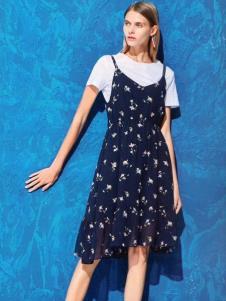 衣魅人品牌折扣吊带裙两件套