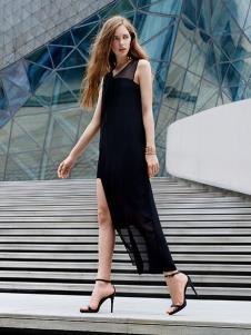 37°生活美学黑色极简连衣裙