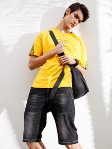 Saslax莎斯莱思新款黄色T恤