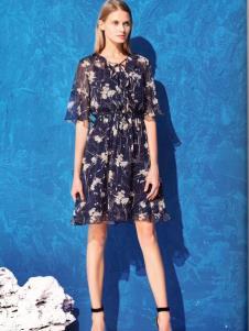 衣魅人品牌折扣雪纺印花裙