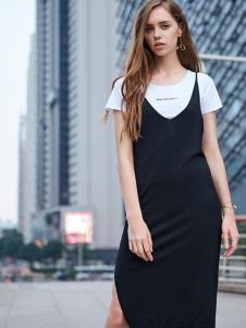 37°生活美学黑色吊带裙