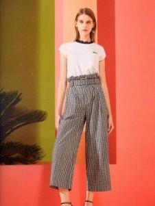 衣魅人女装新款条纹休闲裤