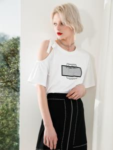 Saslax莎斯莱思夏季新款T恤