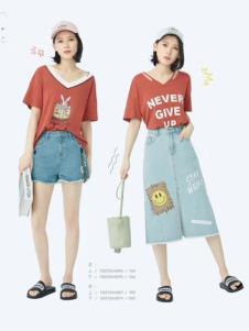 衣魅人品牌折扣女装夏时尚套装