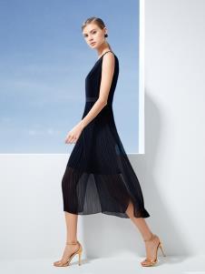 迪如女装DU迪如女装新款黑色连衣裙