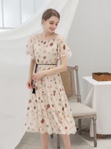 艾诺绮夏季新款细带连衣裙