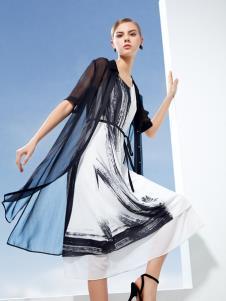 迪如女装DU迪如女装新款泼墨连衣裙
