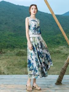 2019谷度女装夏新款印花套装裙