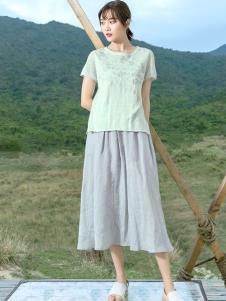 2019谷度女装棉麻连衣裙
