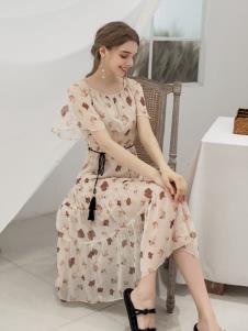 艾诺绮夏季新款碎花裙