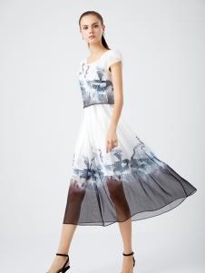 DU迪如女装新款印花连衣裙