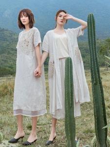 2019谷度女装夏新款亚麻连衣裙