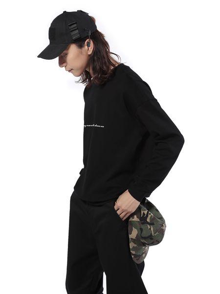 第二印象男装卫衣黑色19新款