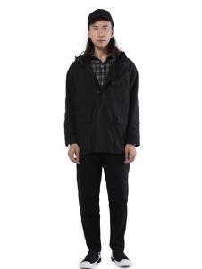 第二印象男装黑色夹克
