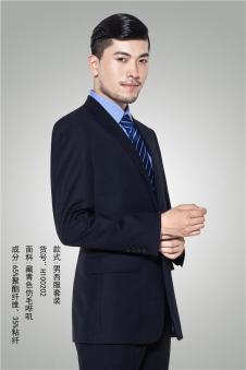 ms深蓝男式商务西装