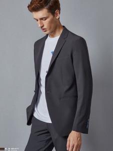 埃沃定制男装新款黑色休闲西服