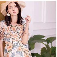 夏季印花连衣裙,无可取代的美!