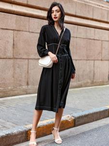 搜美女装优雅小黑裙
