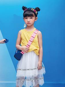DIZAI棣仔女童连衣裙两件套