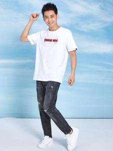 罗蒙白色T恤