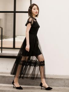 LIYA LISA莉雅莉萨新款黑色网纱裙