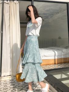 MUUZI木子女装新款不规则半身裙
