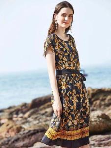 惠之良品品牌折扣女装复古连衣裙