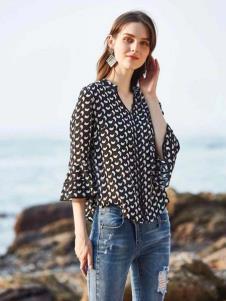 惠之良品品牌折扣女装波点衬衫