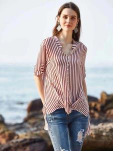 惠之良品品牌折扣女装条纹衬衫