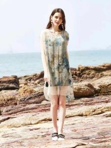 惠之良品品牌折扣女裝民族風連衣裙