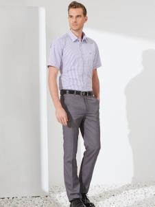 富绅男装商务短袖衬衫