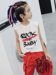 玖喆潮童白色T恤