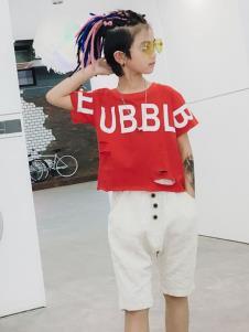玖喆潮童圆领T恤