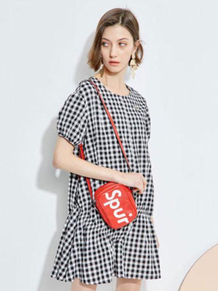 2019欧炫尔女装夏款格子裙