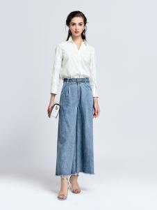 2019音非女装白色衬衫