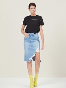 原创设计师Ms.Leyna女装黑色T恤