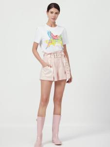 设计师Ms.Leyna女装白色T恤