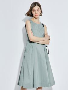 2019歐炫爾女裝淺綠色連衣裙