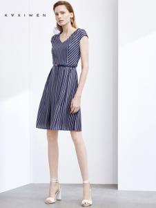2019佧茜文女装收腰连衣裙