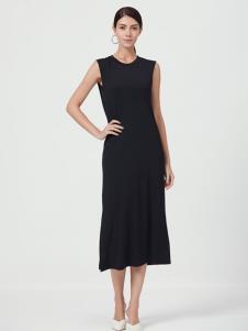 Ms.Leyna女装黑色优雅长裙