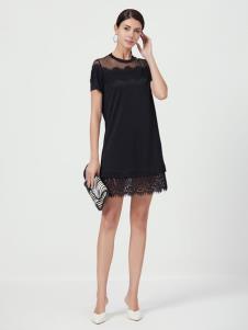 设计师Ms.Leyna女装黑色蕾丝裙