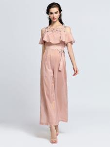 2019音非女装露肩连衣裙