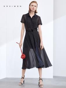 2019佧茜文女装波点连衣裙