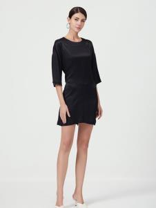设计师Ms.Leyna女装优雅小黑裙