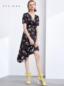 2019佧茜文女装印花裙