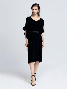 2019音非女装优雅小黑裙