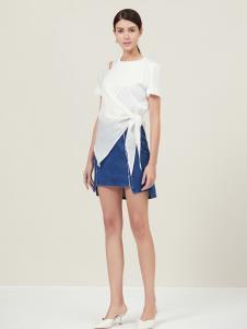 原创设计师Ms.Leyna白色个性上衣