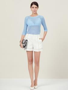 原创设计师Ms.Leyna白色短裤