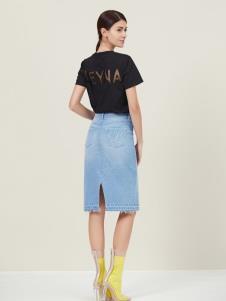 原创设计师Ms.Leyna女装牛仔半裙
