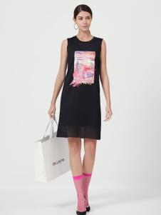2019设计师Ms.Leyna黑色简约连衣裙